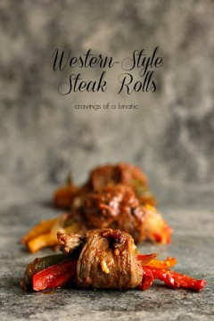 Western Style Steak Rolls by Cravings of a Lunatic | Seriously scrumptious recipe! A must try!