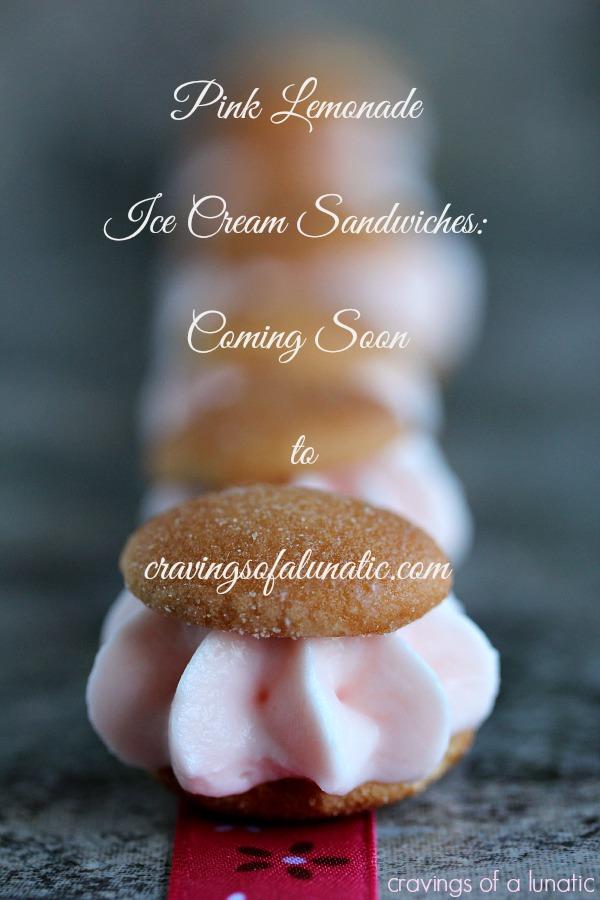 Pink Lemonade Miniature Ice Cream Sandwiches coming soon to cravingsofalunatic