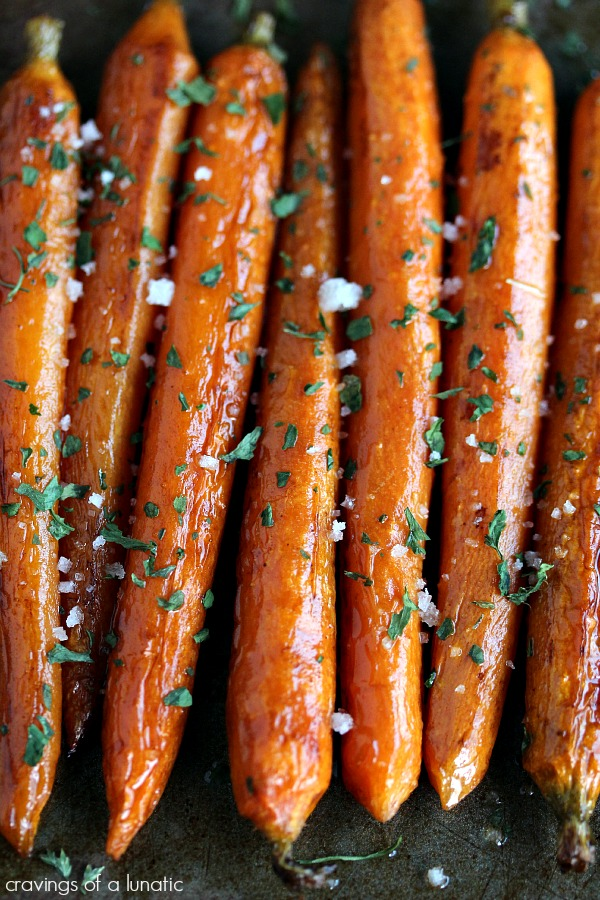 Balsamic Roasted Baby Carrots from cravingsofalunatic.com- So simple to make yet so complex in flavour. A family favourite! (@CravingsLunatic)