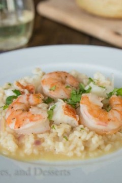 Brown Butter Seafood Risotto by Dinners, Dishes and Desserts