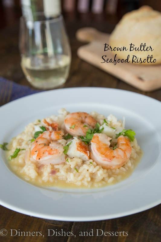 Brown Butter Seafood Risotto