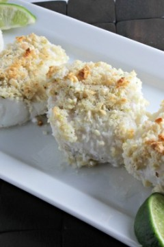 Coconut Almond Crusted Cod by Cooking in Stilettos