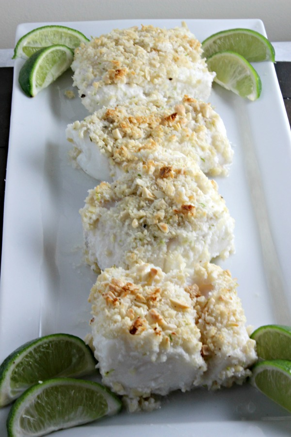 Coconut Almond Crusted Cod by Cooking in Stilettos   Simple, yet bursting with tropical flavour!