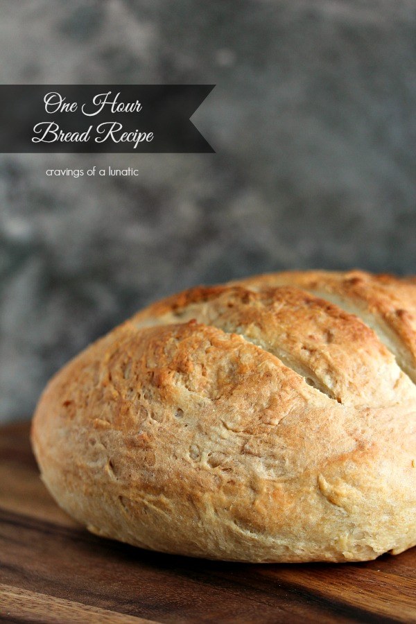 One Hour Bread Recipe | Cravings of a Lunatic | Crusty on the outside and soft on the inside. It will become a family favourite!