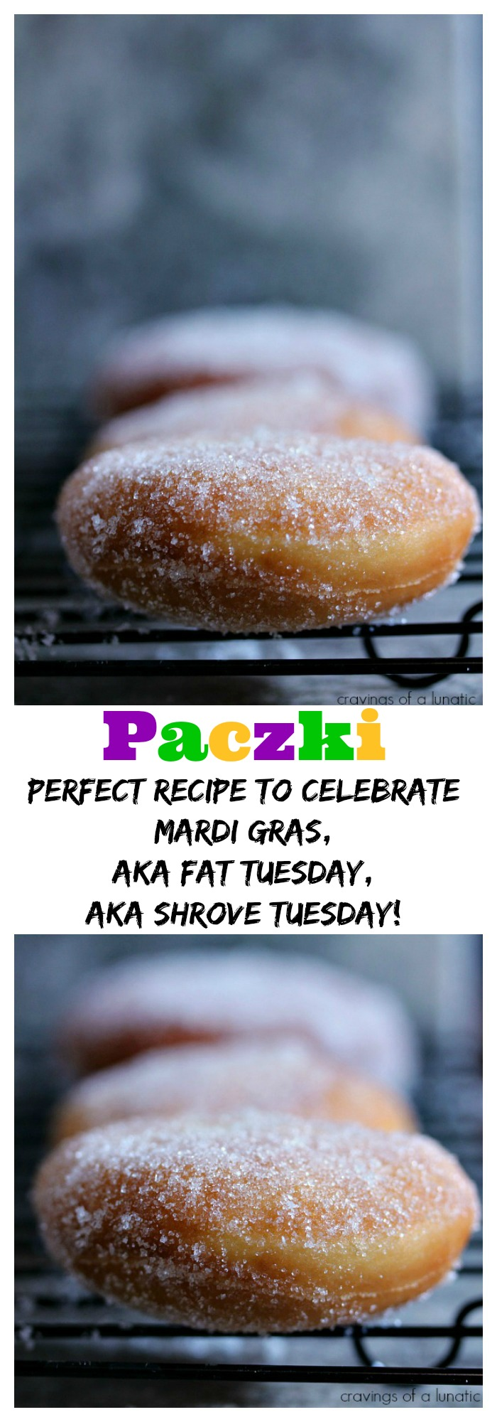 Paczki from cravingsofalunatic.com- This recipe is easy and absolutely delicious. (@CravingsLunatic)