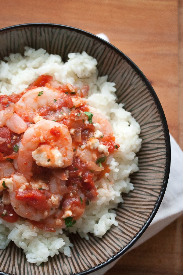 Saganaki Shrimp by Crumb | Guest Post on Cravings of a Lunatic | A must make dinner idea for Seafood Lovers!