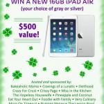 16 GB iPad Air Giveaway