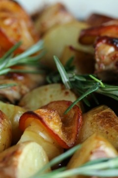 Chicken and Potato Bake with Meyer Lemons