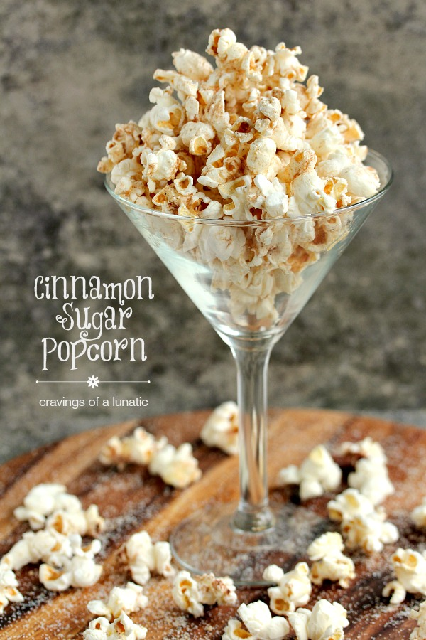 Cinnamon Sugar Popcorn   My special cinnamon sugar mix over top of perfectly buttered fresh popcorn. You are going to love this one!
