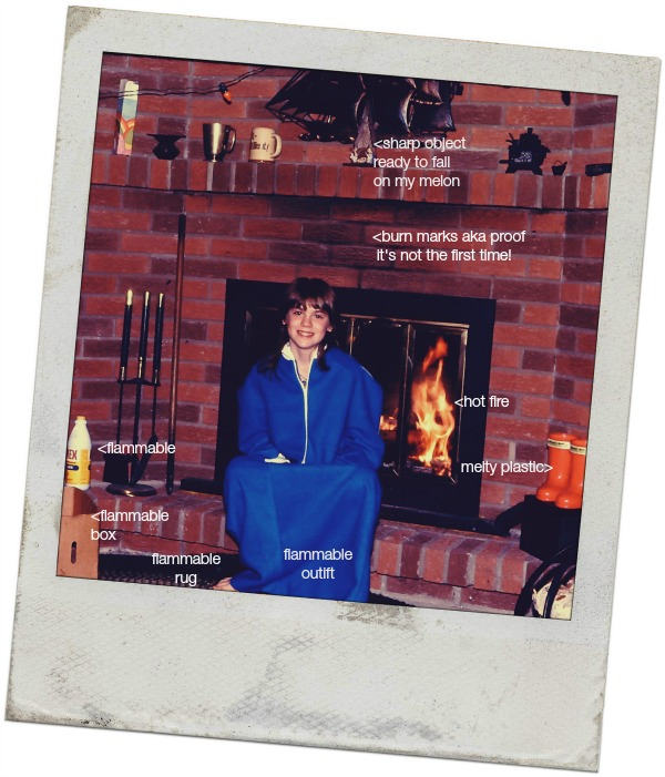 Kim by the fire