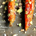 Roasted Carrots with Honey and Pistachios | We love this side dish, it's just a little bit fancy pants for special occasions.