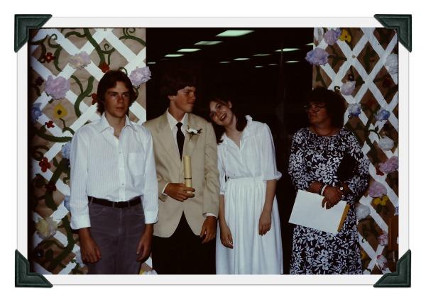 Scott, Ken, Kim and Mom at Ken's Graduation