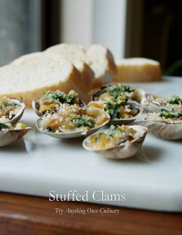 Stuffed Clams - Palourdes Farcies: Guest Post by Try Anything Once | Featured on Cravings of a Lunatic