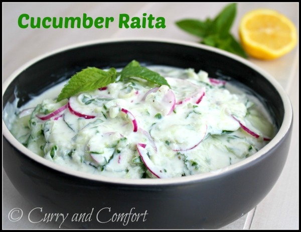 Cucumber Raita from Curry and Comfort