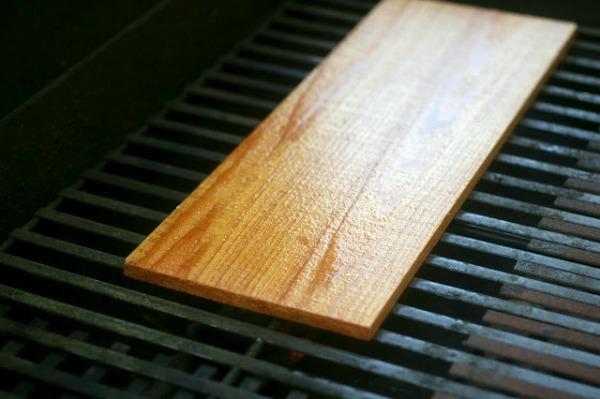soaked cedar plank