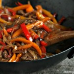 Easy Steak and Peppers | Easy to make steak and pepper recipe. Loaded with peppers, onion and shallots.