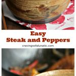 Easy steak and peppers is the perfect one pot dinner recipe for weekdays or weekends!