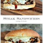 Steak Sandwiches Pinterest Collage Image