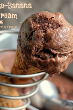 Chocolate Banana Ice Cream (No Ice Cream Maker Needed) #IceCreamSundays
