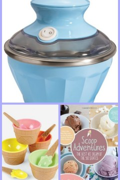 Giveaway for Ice Cream Machine, Cookbook, and Serving Dishes #SizzlingSummerBlogHop