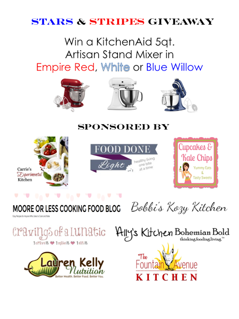 Giveaway for a KitchenAid Stand Mixer | Stop by Cravings of a Lunatic to enter today!