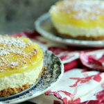 No Bake Lemon Cheesecake with Cannoli Crust
