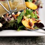 Peach Salad with Peach-Hazelnut Dressing