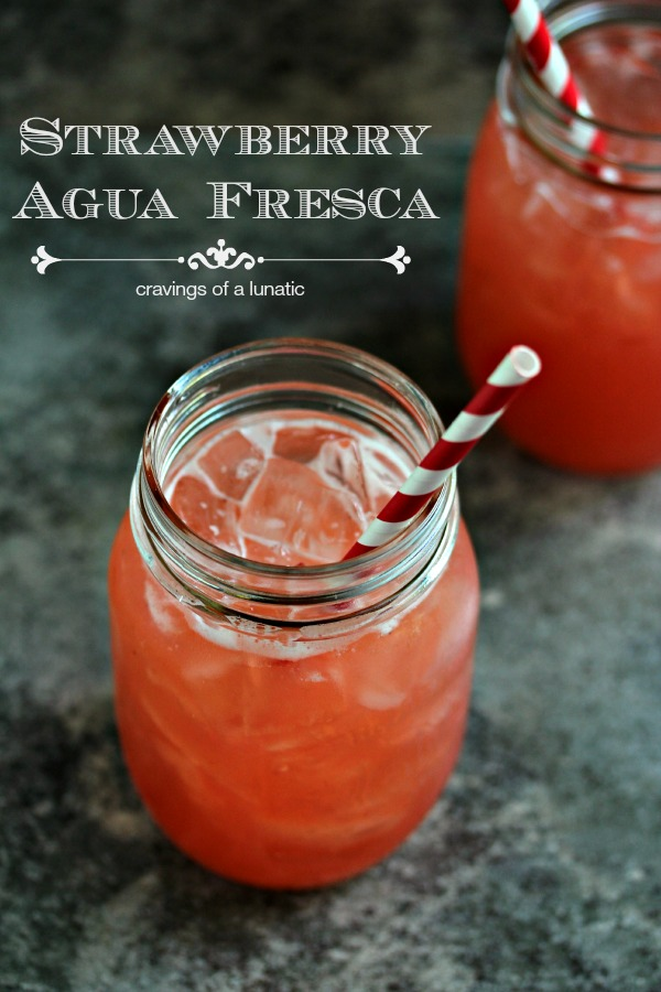 Strawberry Agua Fresca | This simple strawberry agua fresca is the perfect thirst quencher on a hot summer day!