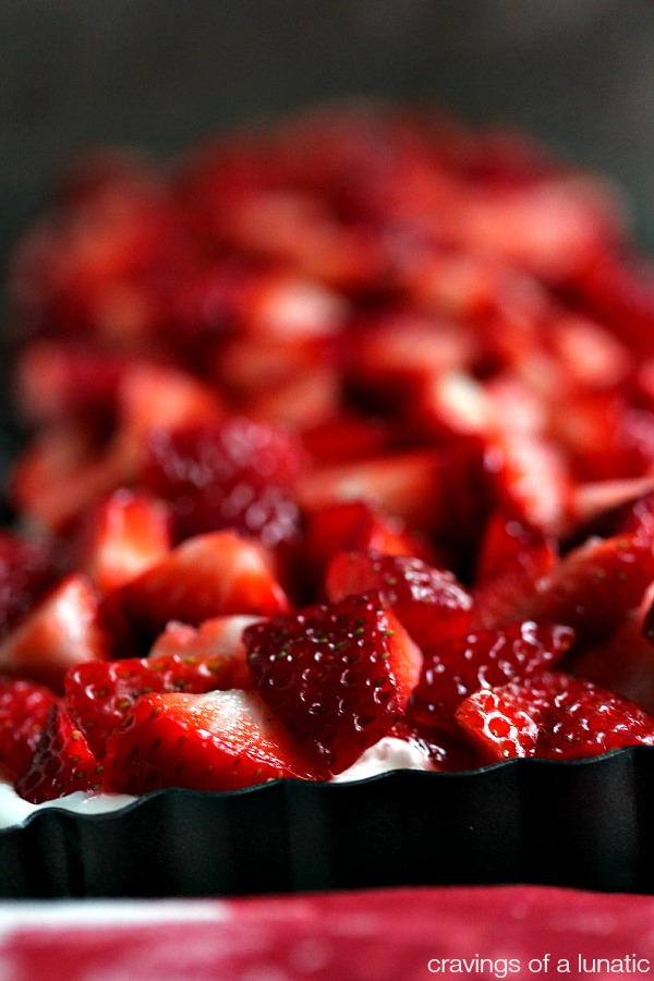 Strawberry No Bake Cheesecake Tart from cravingsofalunatic.com- This No Bake Strawberry Cheesecake Tart is super easy to make and perfect for summer. (@CravingsLunatic)
