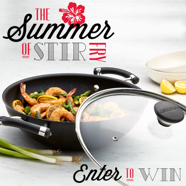The Summer of Stir Fry Circulon Acclaim 12 inch Wok Giveaway |Stop by Cravings of a Lunatic to enter!