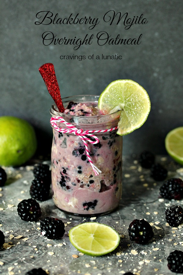 Blackberry Mojito Overnight Oats | Super tasty and easy to make!