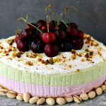 Cherry and Pistachio No Bake Cheesecake with Animal Cracker Crust | This recipe will impress your friends and family. That is, if you share it with them.