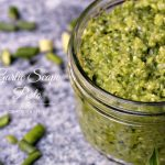 Garlic Scape Pesto #FarmFreshFridays