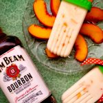 Bourbon Peaches & Cream Popsicles: Guest Post by My Imperfect Kitchen #BoozyDessertsWeek