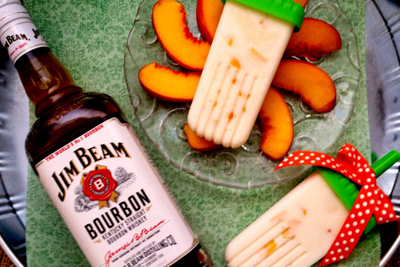 Peaches & Cream Popsicles by My Imperfect Kitchen, Guest Post on Cravings of a Lunatic