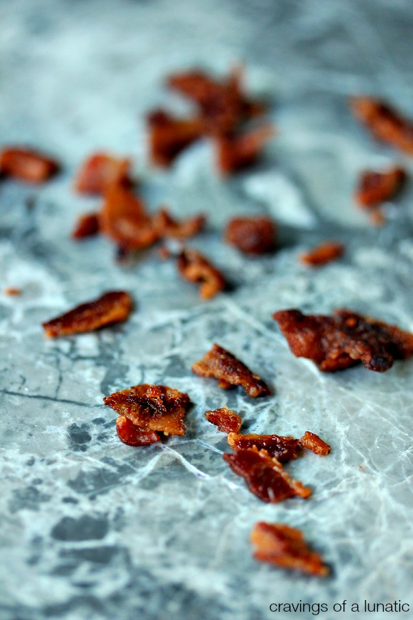 Bacon Bits | How to make bacon bits. You can use them on salads, or keep them on hand for quick bacon pizza bites as an after school snack.