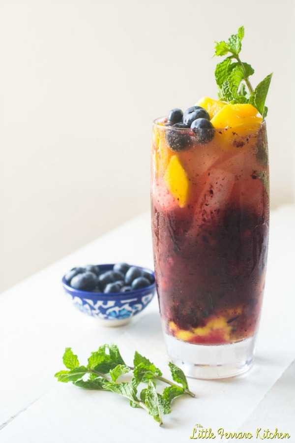Blueberry Mango Mojito | Guest Post for #BoozeWeek from The Little Ferraro Kitchen on Cravings of a Lunatic