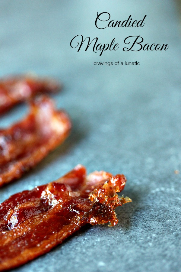 Candied Maple Bacon | cravingsofalunatic.com | So easy to make, this candied bacon is maple flavoured. Sweet, and salty, it's sheer perfection.