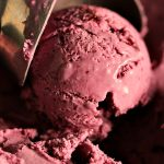 Roasted Blueberry Cheesecake Ice Cream