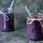 Roasted Blueberry Milkshakes | Super easy to make and perfect for #IceCreamWeek!