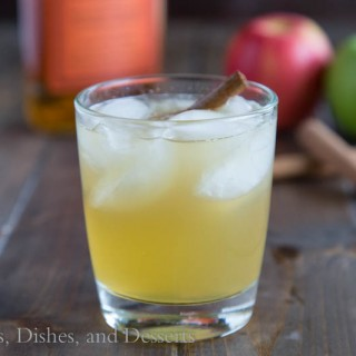 Bourbon Apple Cider by Dinners, Dishes and Desserts: Guest Post on Cravings of a Lunatic | Turn fresh apple cider into the perfect fall cocktail!
