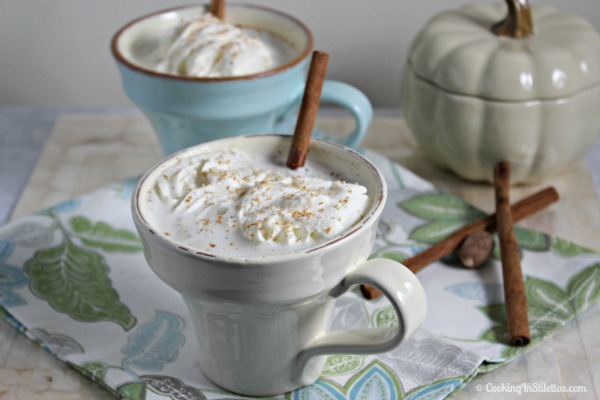 Bourbon Laced Vanilla Chai Tea Latte by Cooking in Stilettos, guest post on Cravings of