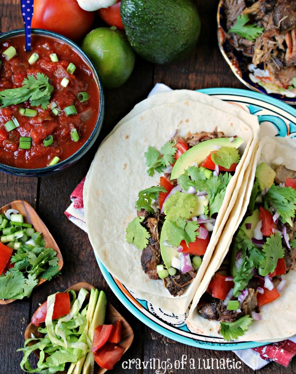 Slow Cooker Sweet and Spicy Carnitas by Cravings of a Lunatic