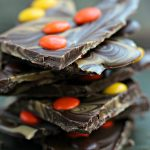 Peanut Butter and Chocolate Bark with Reese's Pieces
