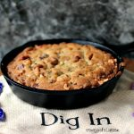 Chocolate and Hazelnut Skillet Cookie