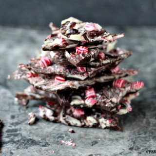 Chocolate Peppermint Bark | Super easy to make, this bark is ready in minutes. Layer some chocolate, toss some peppermint on top and it's perfection!