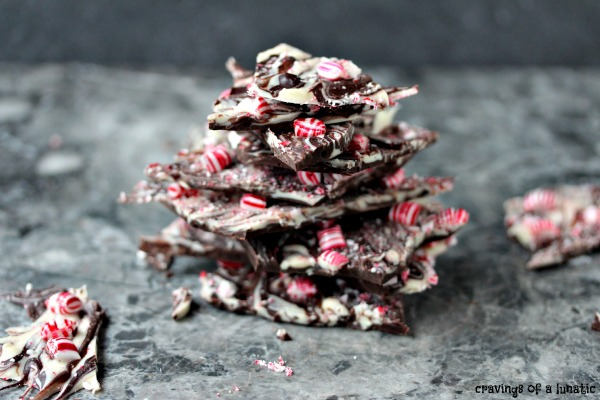This chocolate peppermint bark is super quick and easy to make. Don't pay a fortune for it in stores! Just make your own.