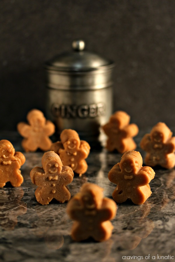 Mini Gingerbread Fudge from cravingsofalunatic.com- Amazing gingerbread fudge shaped like tiny gingerbread men. This fudge recipe has become my favourite of all time. It is bursting with flavour! (@CravingsLunatic)