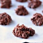 Santa Cookies aka No Bake Coconut Macaroon Cookies