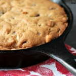 Peanut Butter and Chocolate Skillet Cookie {Food Fanatic}
